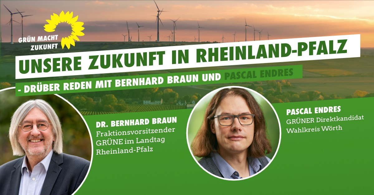 """""""Unsere Zukunft – drüber reden"""" mit Bernhard Braun, MdL"""