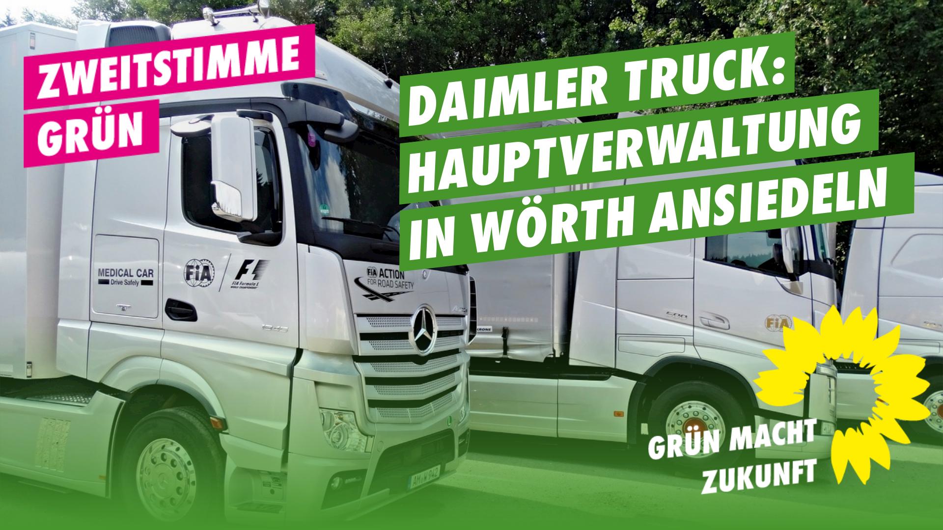 Daimler Truck: GRÜNE für Ansiedlung der Hauptverwaltung in Wörth