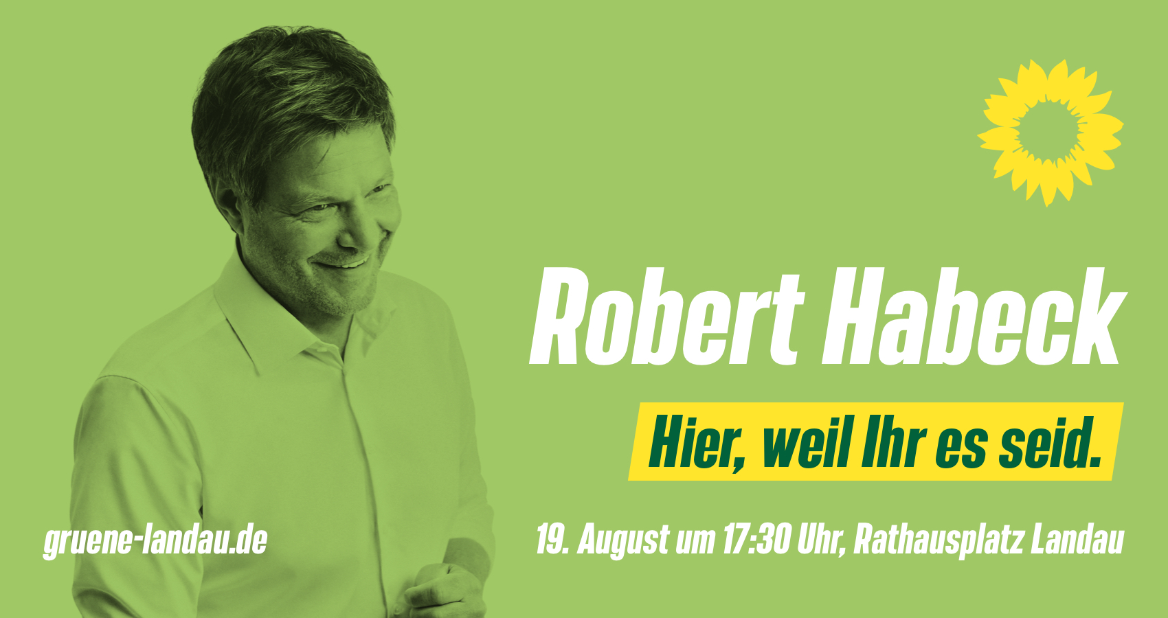 Robert Habeck kommt in die Südpfalz